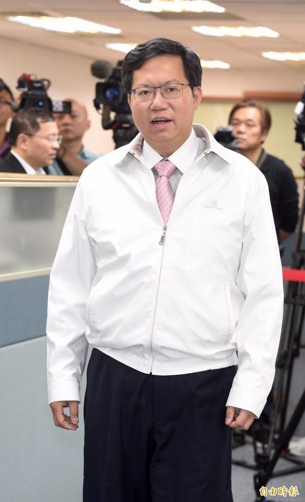 桃園市長鄭文燦。(資料照,記者羅沛德攝)