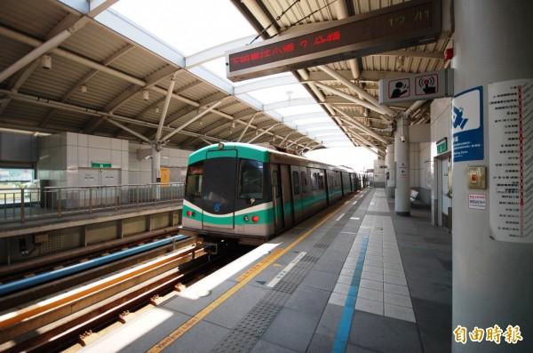 行政院提出的「前瞻基礎建設計畫」納入預算破千億的高雄捷運黃線。(資料照,記者林耀文攝)