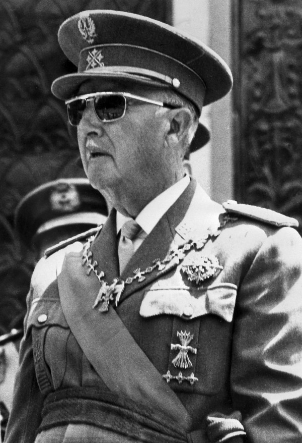 20世紀法西斯獨裁者佛朗哥。(法新社資料照)