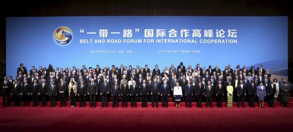 中國「一帶一路」高峰會,共有29個國家元首、130個國家代表出席與會。(美聯社)