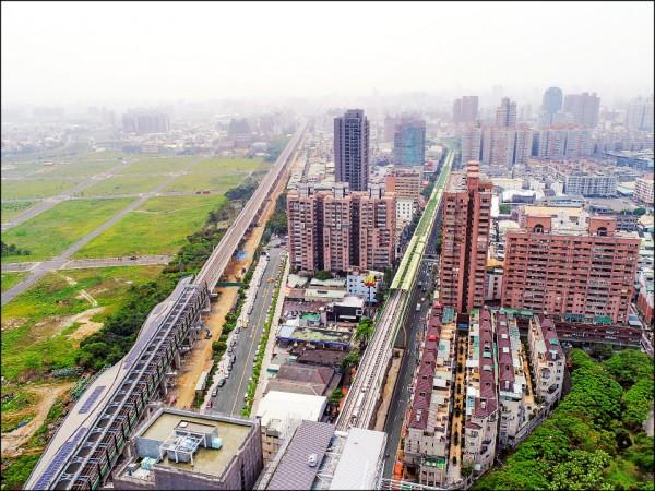 台中市府爭取軌道建設納入前瞻建設計畫,獲得七成市民肯定。 (台中市政府提供)