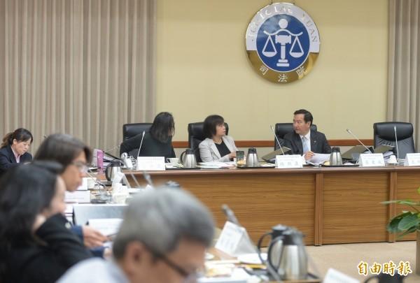 「總統府司法改革國是會議」第一分組第六次會議16日在司法院召開。(記者張嘉明攝)