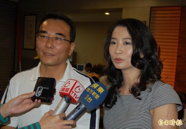蔡豪與妻子宋麗華。(資料照)