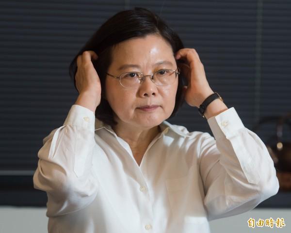 台灣總統蔡英文。(資料照,記者黃耀徵攝)