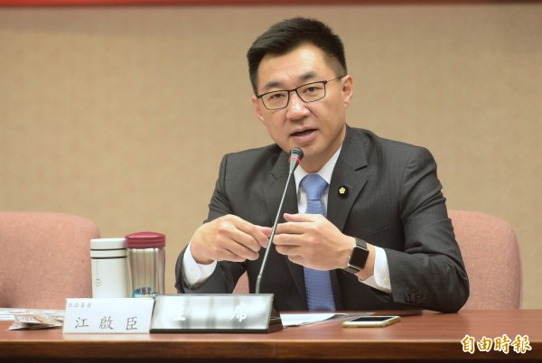 國民黨立委江啟臣今表態將參選台中市長,強調「不管坐轎或抬轎都不會逃避」。(資料照,記者張嘉明攝)