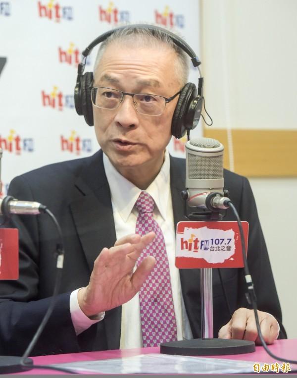 國民黨主席當選人、前副總統吳敦義22日接受周玉蔻專訪。(記者黃耀徵攝)