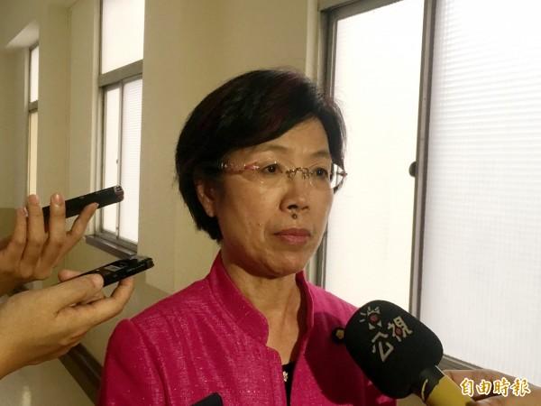 民進黨立委尤美女表示,期待能在本會期推動同性婚姻民法的修法。(記者鄭鴻達攝)