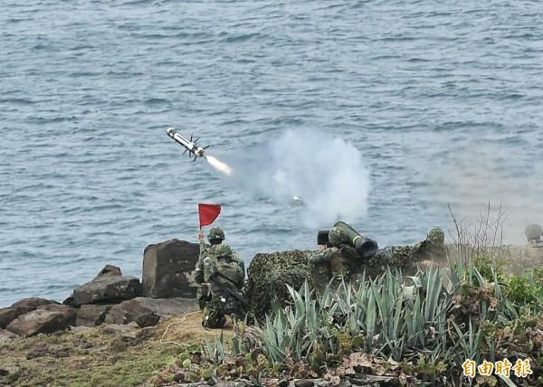 澎湖漢光33號演習實兵演練,三軍聯合反登陸作戰操演(記者方賓照攝)