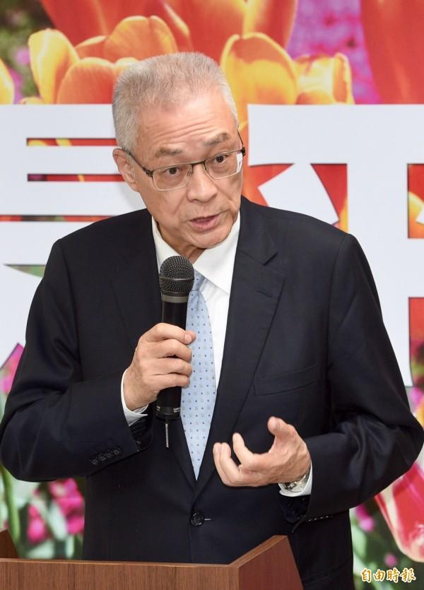 前副總統吳敦義26日召開一場名為「愛是平等」的記者會,首度以黨主席當選人身分發表對同性婚姻的看法。(記者羅沛德攝)