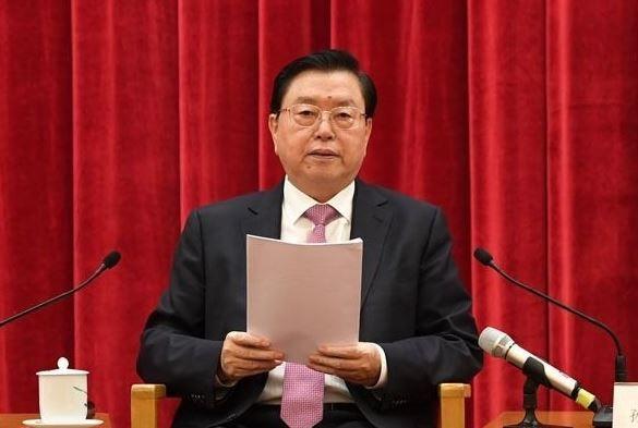 全國人大委員長張德江出席「香港特區基本法實施20周年座談會」。(圖擷自推特)