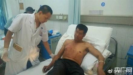 李男務農遇到野象攻擊,肋骨斷11根大難不死。(圖擷取自央廣網)
