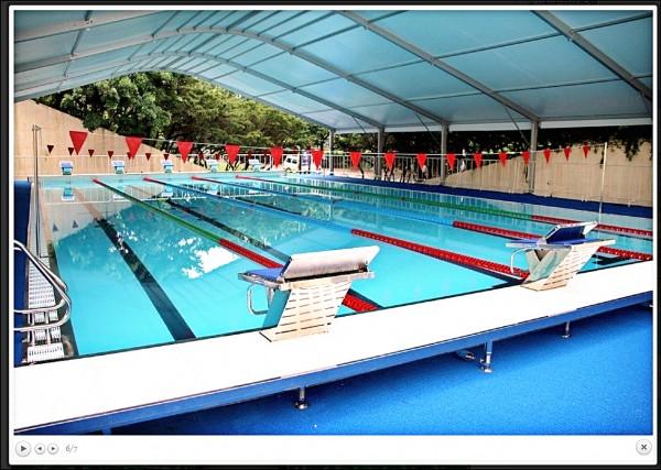 除了活動式游泳池,還有廿五米練習池。(摘自世大運官網)