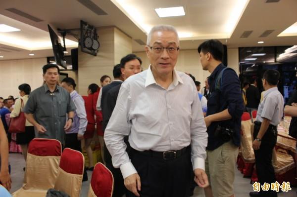 國民黨主席當選人吳敦義在彰化縣獲得59%選票,高於全國52%得票率。(記者張聰秋攝)