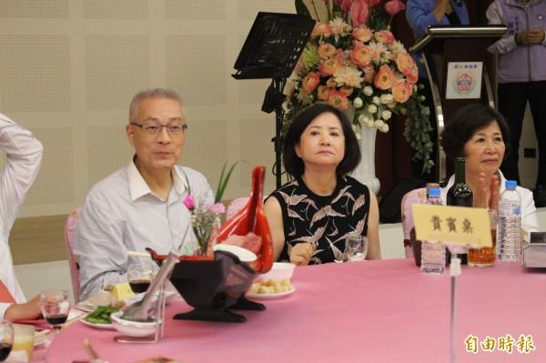 吳敦義夫婦一起參加由謝典霖家族舉辦的謝票餐會。(記者張聰秋攝)