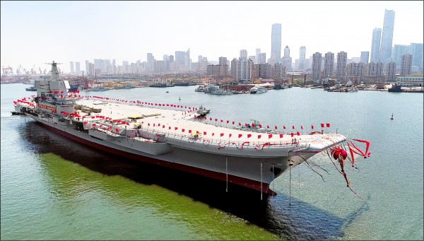 中國首艘國產航空母艦,可望在2020年具備初始作戰能力。(歐新社資料照)