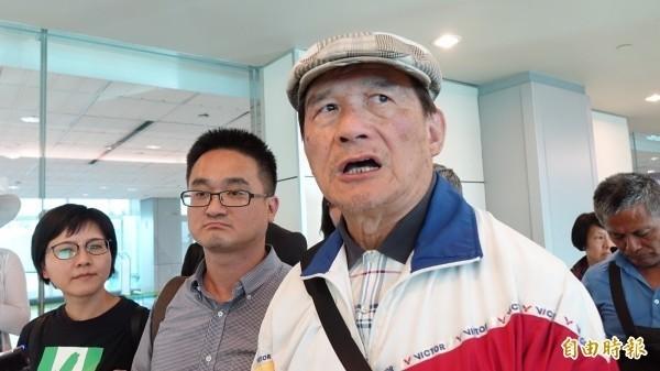 前國防部長蔡明憲(戴帽者)日前率領「台灣加入WHO宣達團」前往瑞士。(資料照,記者姚介修攝)