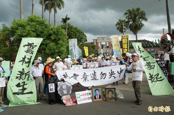 610反空污救雲林遊行,數百人參與。(記者詹士弘攝)