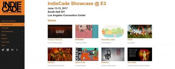 IndieCade在今年五月中通知《返校》入選,日前官方網站上也正式公開入選消息。(翻攝自IndieCade網站)