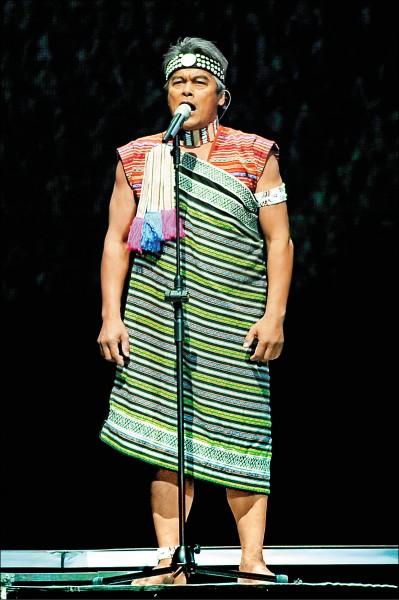 林慶台曾在《看見台灣》跨界音樂會獻唱。(資料照)