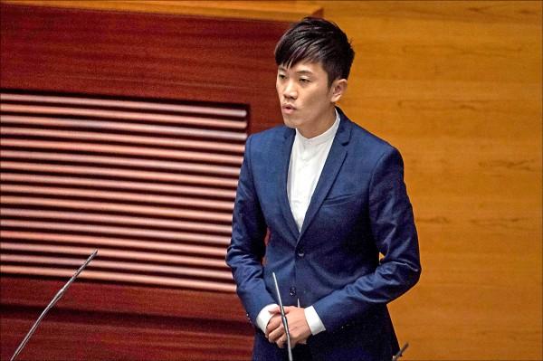 香港本土派政黨「熱血公民」的立法會議員鄭松泰。(法新社)