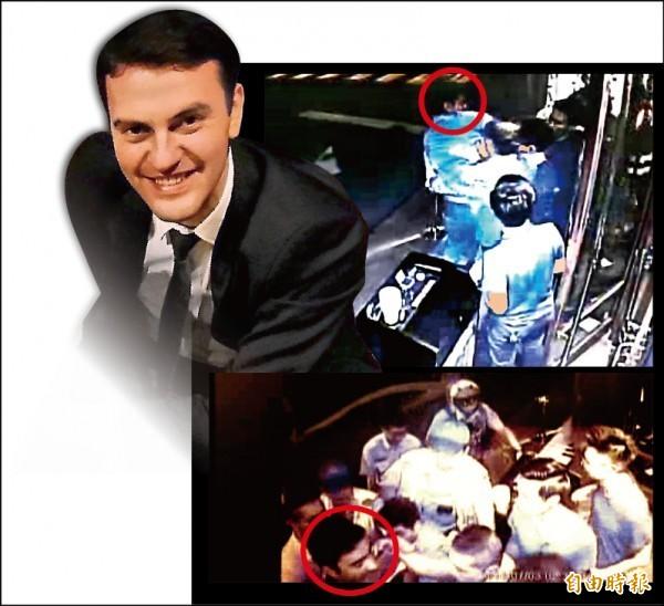 土耳其副代表都庫哈里去年7月搭訕女客不成,又涉嫌襲警(紅圈處),後來外交部確認他無刑事豁免權,但他早已離境,被害人控訴他回國後仍透過臉書騷擾。 (資料照)