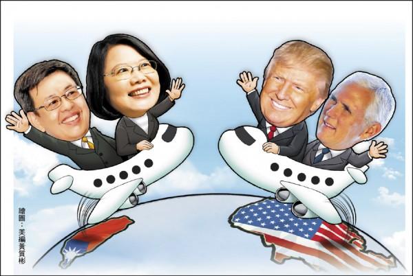 台美高層互訪邁開立法的第一步!美眾議院外交委員會亞太小組十五日通過「台灣旅行法」草案,若參、眾兩院順利通過,未來台美高層互訪可望獲得解禁。(美編組)
