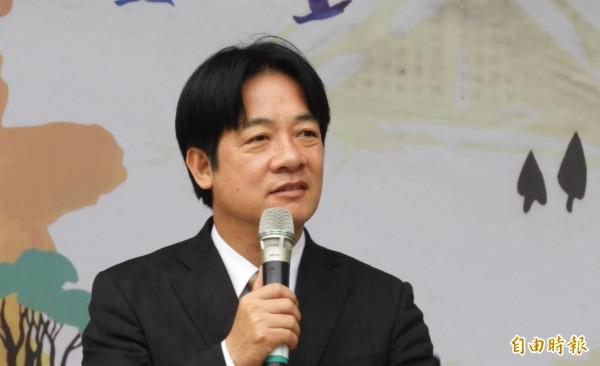 台南市長賴清德近日在美國演講,指出台灣人民無法接受「一國兩制」把台灣降為殖民地。(資料照,記者洪瑞琴攝)