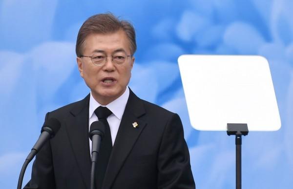 南韓總統文在寅誓言要廢除南韓所有新核電廠計畫。(法新社)