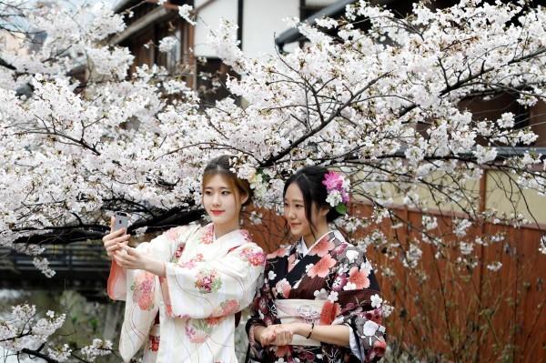日本京都是著名的觀光都市,但越來越多的觀光客已給當地居民帶來不便。圖中人物與新聞無關。(資料照,路透)