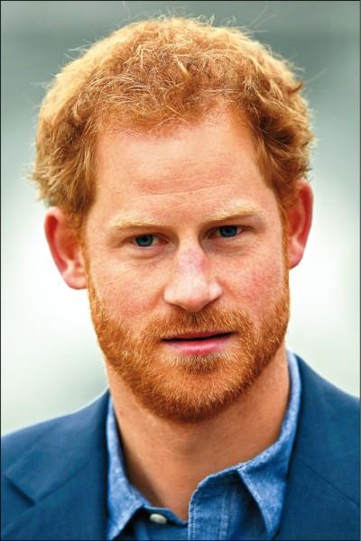 英國哈利王子去年十月七日現身倫敦王室板球球場。(法新社檔案照)