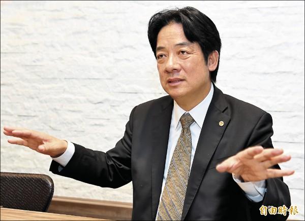台南市長賴清德(記者朱沛雄攝)