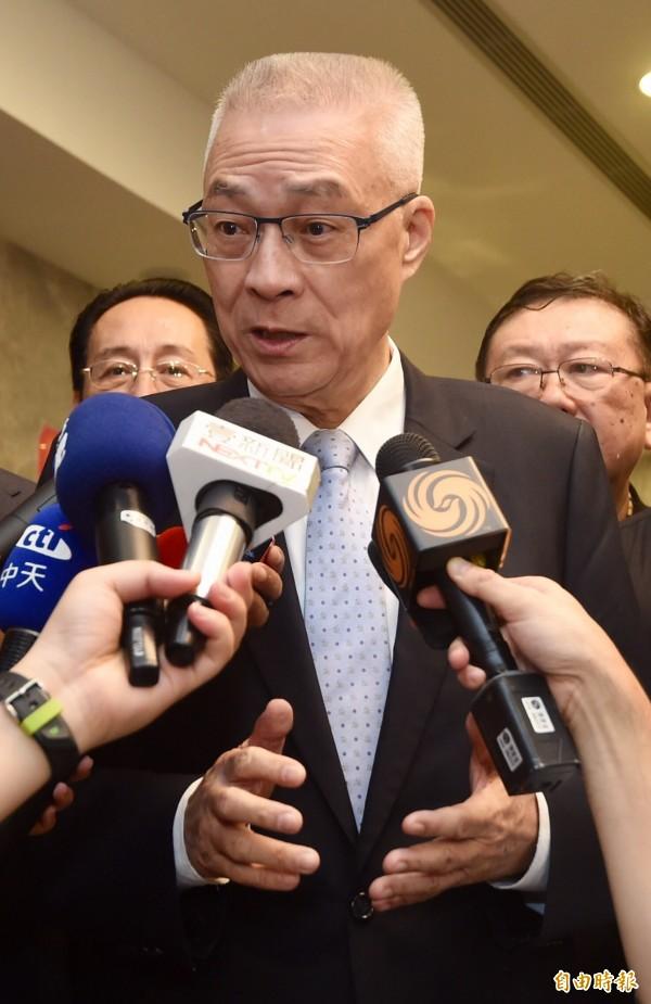 前副總統吳敦義今天(26日)出席首屆兩岸人文名家高峰會。(記者簡榮豐攝)