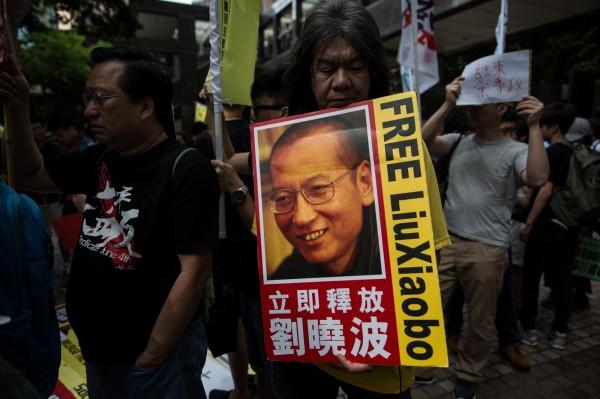 被中國當局監禁的異議人士劉曉波傳出已保外就醫。(法新社)
