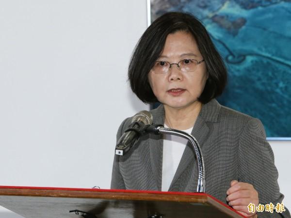 台灣民意基金會公布最新調查,總統蔡英文聲望跌到上任以來最低點,僅33.1%。(資料照,記者陳逸寬攝)