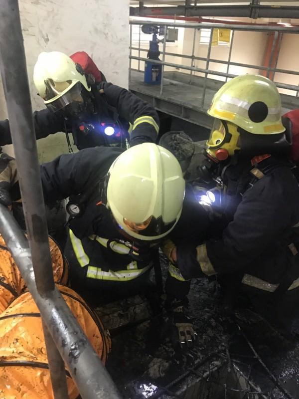 燿華電子宜蘭廠昨天發生工安意外。(記者簡惠茹翻攝)