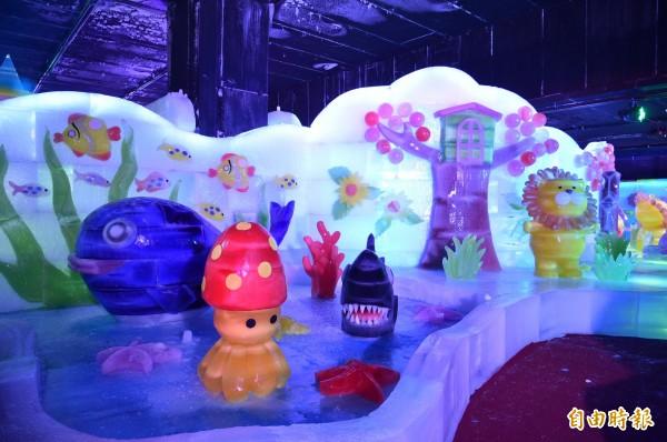 哈爾濱冰雪藝術展「高雄凍物園」,今天起在高雄小港國際花卉市場登場!(記者張忠義攝)
