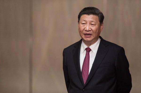 中國國家主席習近平今天首度訪港。(法新社)
