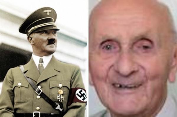 阿根廷一位百歲人瑞(右)自稱是希特勒。(圖擷自《Daily Star》)