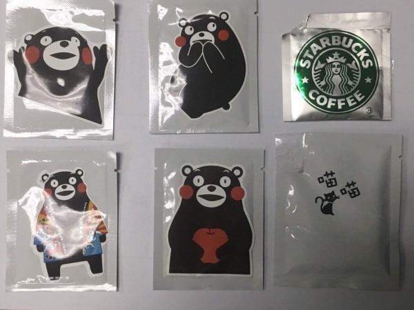 毒包變身「熊本熊」讓青少年失戒心。(記者蔡清華翻攝)