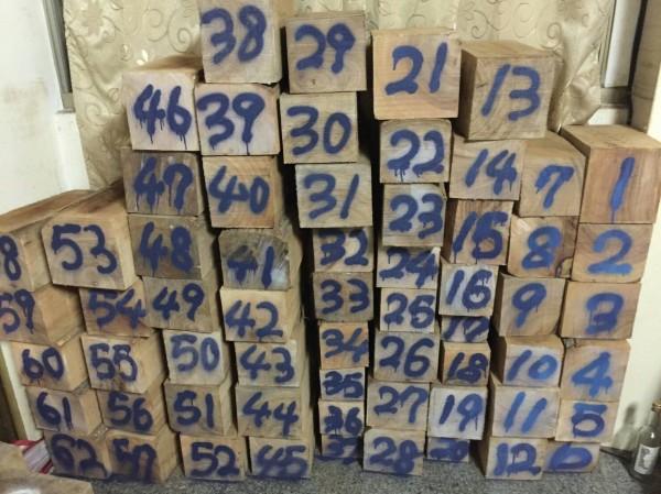 林務局嘉義林管處與警方在嘉義市一處民宅查獲大量木材,市價粗估約數十萬元。(記者林宜樟翻攝)