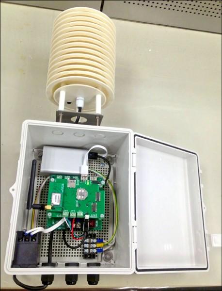 現行較小型的空氣監測設備。(環保署提供)