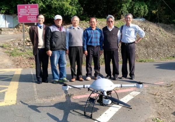 國產署與測繪業者合作,出動百萬級空拍機製作土地使用概略圖。(記者陳冠備翻攝)