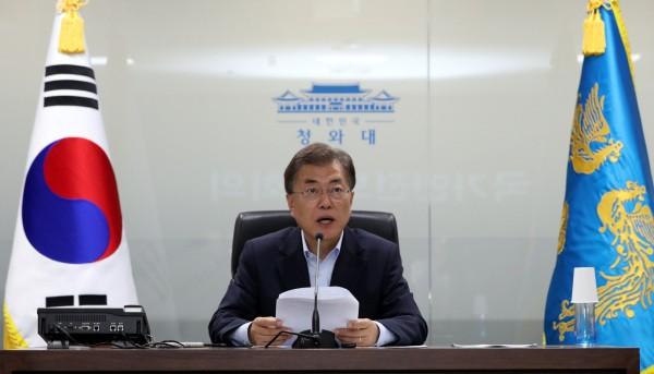 南韓總統文在寅表示,只要條件成熟,願意隨時隨地和北韓最高領導人金正恩會面。(資料照,路透)