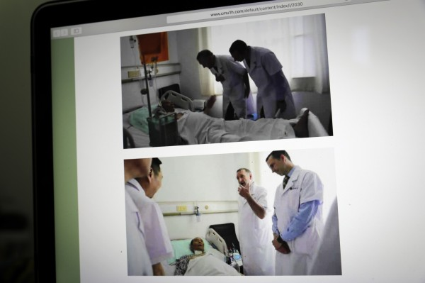 諾貝爾和平獎得主劉曉波因罹患肝癌末期,病情受到全球關注。(美聯社)