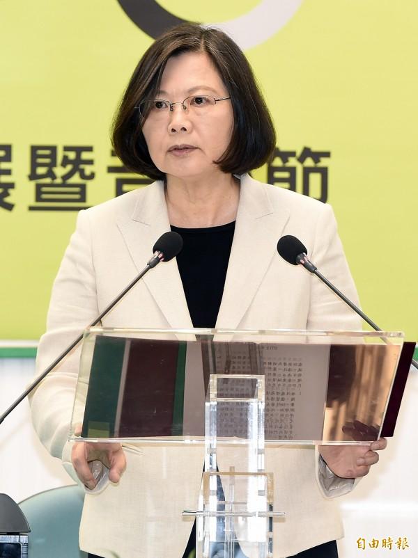 蔡英文總統表示,對劉曉波病逝感到無比哀慟。(資料照,記者廖振輝攝)