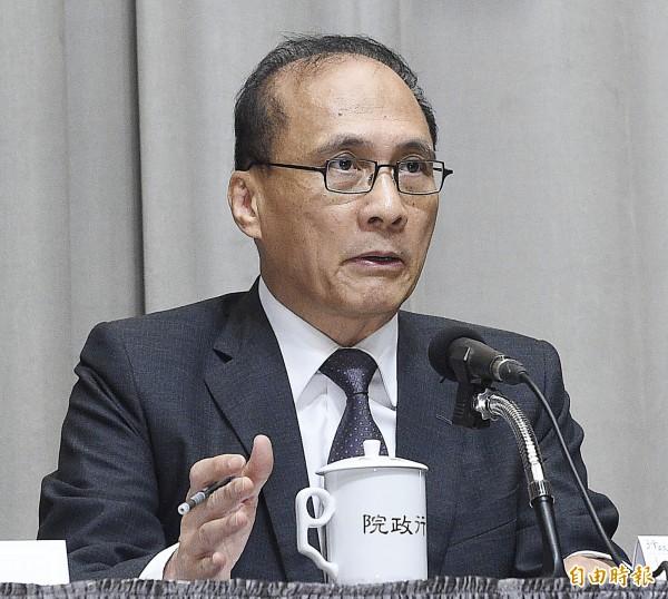 行政院長林全回應前瞻基礎建設預算相關問題。(資料照,記者陳志曲攝)