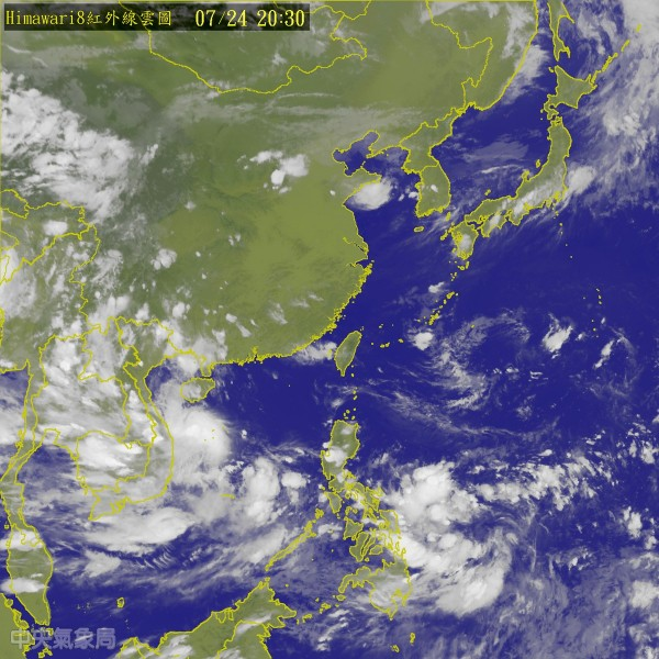 南海至菲律賓東方海面仍有熱帶擾動發展,預計這一兩天有可能會進一步發展成熱帶性低氣壓,不排除將會形成第9號颱風尼莎。(圖擷自中央氣象局)