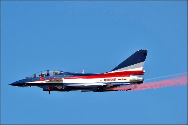 中國殲-10戰鬥機。(法新社檔案照)