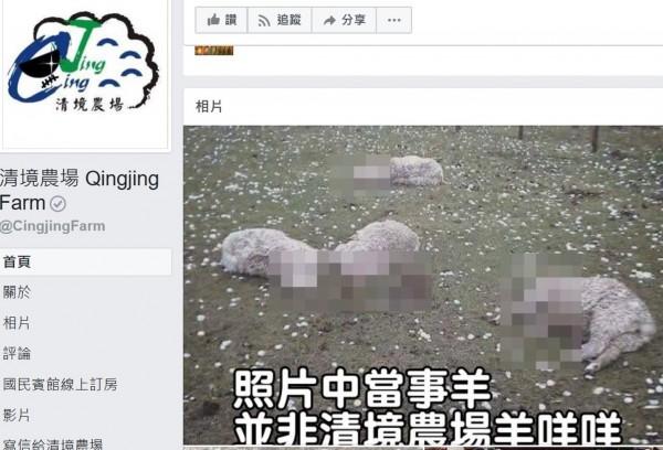 為免網路謠言引起爭議,退輔會清境農場今天趕緊澄清消毒。(記者佟振國翻攝)