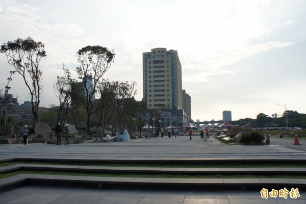 北門廣場將蛻變為占地逾6800平方公尺的綠地廣場。(記者黃建豪攝)